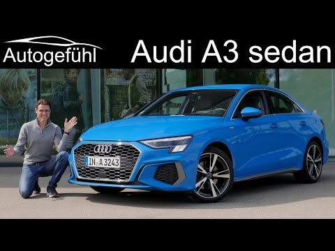all-new Audi A3 sedan FULL REVIEW 2021 A3 Limousine TFSI vs TDI comparison - Autogefühl