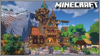 A Minecraft House Using All Wood Types!