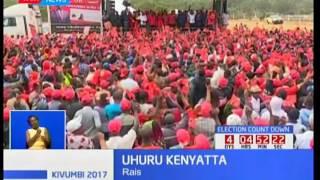 Rais Uhuru Kenyatta aongoza Jubilee kwa kampeni katika maeneo ya Meru,Tharakanithi na Kitui