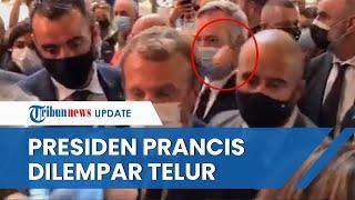 Setelah Video Presiden Prancis Ditampar Viral, Emmanuel Macron Kini Dilempari Telur & Diteriaki