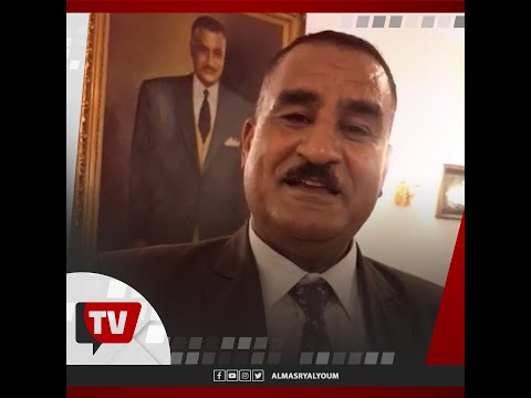شبيه الزعيم جمال عبد الناصر أمام ضريحه في ذكرى وفاته