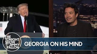 Trump Rambles for 90 Minutes at Georgia Rally | The Tonight Show