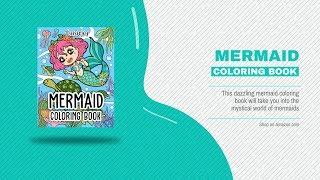Mermaid Coloring Book   Fantasy Mermaids Underwater