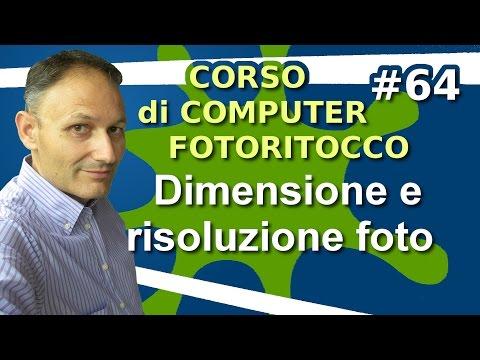 # 64 Dimensione e risoluzione delle immagini - Fotoritocco con Gimp - Maggiolina Corso di Computer