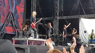 amaranthe Rockfest hyvinkää Finland 2018 live  puhuvat suomea kohdassa 3:37
