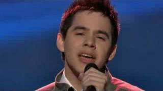 "David Archuleta singing ""Think of Me"" by Andrew Lloyd Webber"