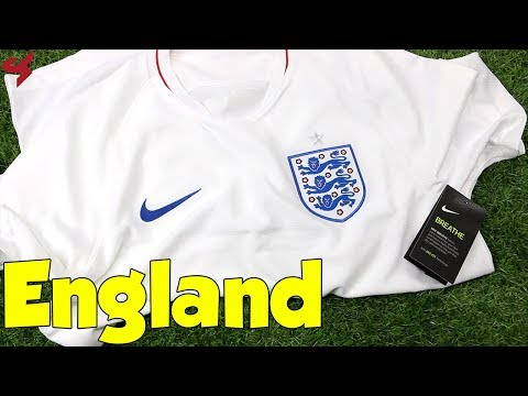 World Cup 2018 Nike Home England Soccer Jersey Unboxing + Review