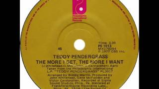 Teddy Pendergrass - The More I Get The More I Want (Dj ''S'' Remix)