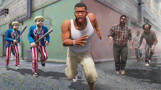 GTA 5 - ESCAPE the ZOMBIES & THE PURGE!