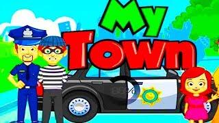 Играем в МОЙ ГОРОД My Town Police #1 приключение в ПОЛИЦИИ.Преступники и дети.Мультик игра для детей