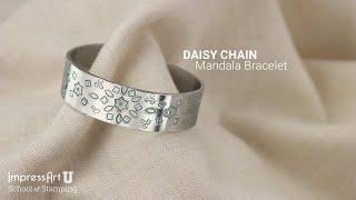 ImpressArt Hand Stamped Mandala Bracelet