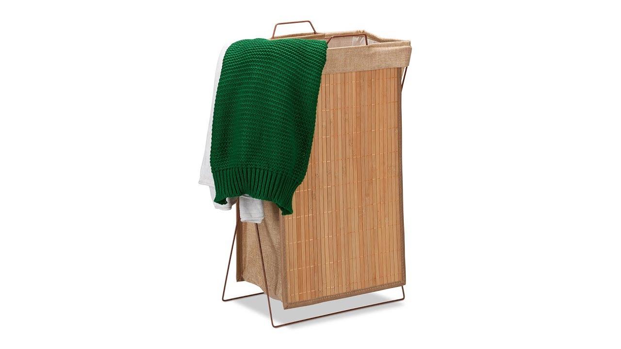 Video von: Wäschekorb Bambus mit Gestell 40 l
