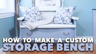 How To Make A Custom Storage Bench