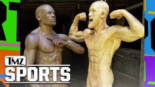 Floyd Mayweather and Conor McGregor Finally Face Off ... In Wood Form | TMZ Sports