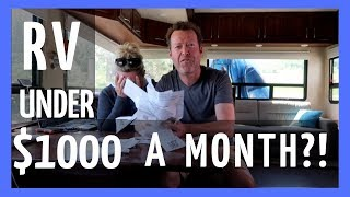 RV LIVING FULL TIME | UNDER $1000 A MONTH! COULD YOU DO IT? (RV LIFE)