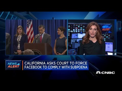 California has been investigating Facebook for 18 months