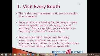 3 Key Tips To Use Career Fairs To Find Your Next Job As A Military Veteran