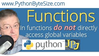 In functions do not directly access global variables