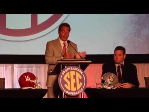 Nick Saban Opening Statements at SEC Media Days