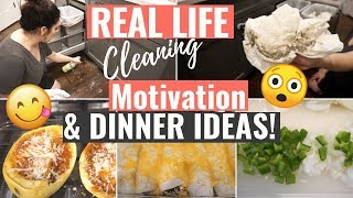 *NEW* REAL LIFE CLEANING MOTIVATION   KITCHEN DEEP CLEAN & WHAT'S FOR DINNER   EASY DINNER IDEAS