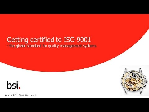 How to get certified to ISO 9001 - YouTube