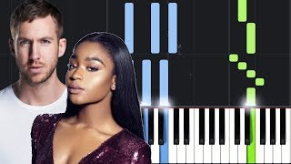 Normani, Calvin Harris   Slow Down Piano Tutorial