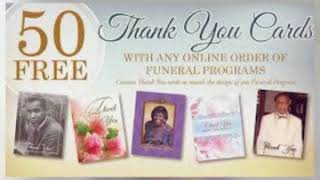 Customized Sympathy Thank You Cards For Funeral