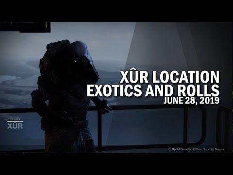 Xur Location, Exotics & Armor Rolls 6-28-19 / June 28, 2019 [Destiny 2]