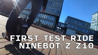 Ninebot Z Z10. Early Prototype Test Ride in Beijing. eWheels