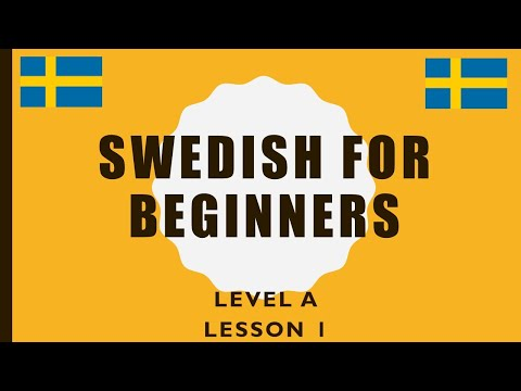 Swedish for beginners: Lesson 1 (level A)