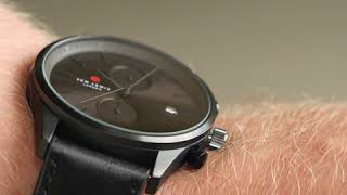 Sem Lewis Metropolitan Finchley chronograph men's watch gunmetal/black
