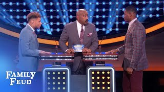 Amari Cooper keeps the Feud GUESSING! | Celebrity Family Feud  | OUTTAKE - dooclip.me
