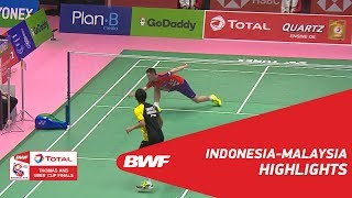TOTAL BWF Thomas & Uber Cup Finals 2018 | Indonesia Vs Malaysia QF | Highlights | BWF 2018