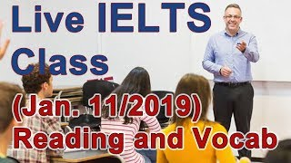 IELTS Live Class - Reading and Vocabulary for Band 9