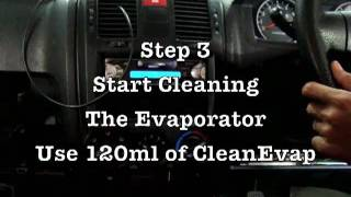 How to clean a car's evaporator/cooling coil & avoid the trouble of removing the dash board. AC mobi