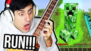 I Played Minecraft Using ONLY A Bass