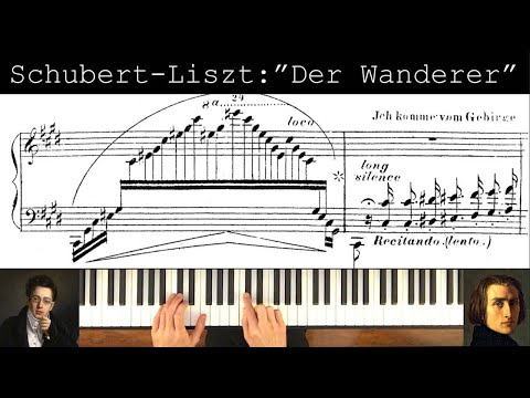 """Schubert-Liszt """"Der Wanderer"""" song transcription"""