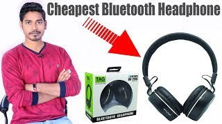 Best Cheapest Bluetooth Headphone | TAG BH-2000 Bluetooth Headphone Unboxing & Review