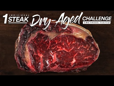 1 Single DRY-AGED Steak CHALLENGE | Guga Foods