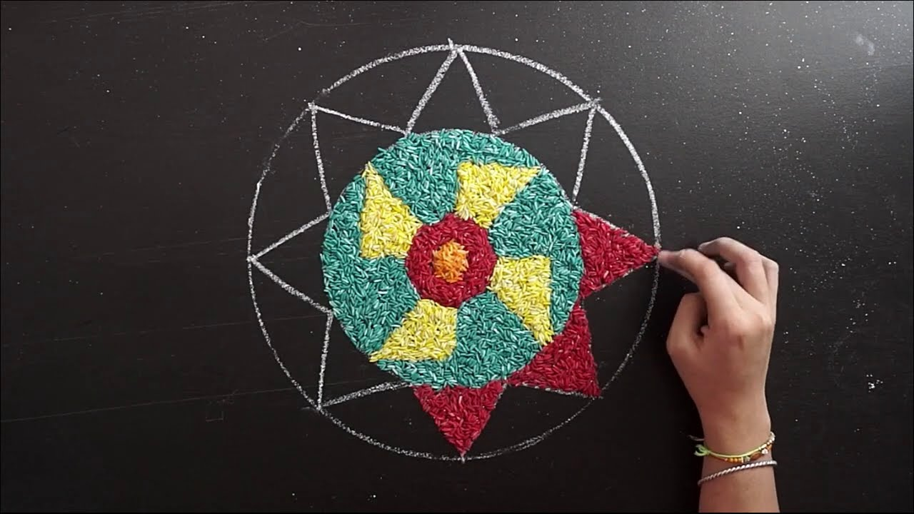 beautiful pookalam design for onam festival by enrich minds