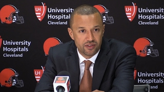 Sashi Brown on why no quarterback for Browns in Round 1