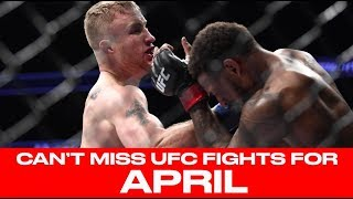 UFC Schedule: Top 10 Must-Watch Fights For April 2018