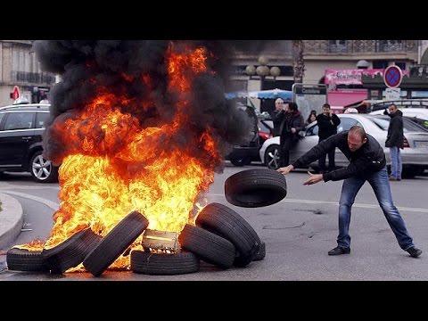 Γαλλία: 24ωρη ασφυξία από την εθνική απεργία των ταξί