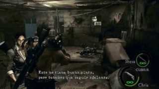preview picture of video 'resident evil 5 guia capitulo 1 2 emblemas tesoros'