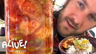Brad Makes Brussels Sprout Kimchi | It's Alive | Bon Appétit