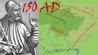 Ptolemy Southeastern Germania Map 150 AD (Western Slovakia)
