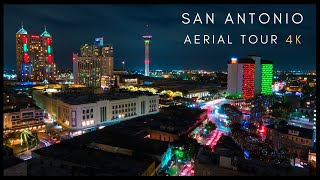 Downtown San Antonio -  4K AERIAL DRONE