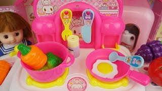 Baby Doli and kitchen baby doll refrigerator food toys play