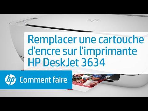 Remplacer une cartouche d'encre sur l'imprimante HP DeskJet 3634