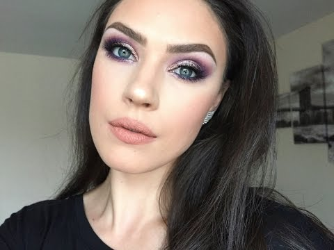 Holiday Glam Series- Part 2 - High End Brands - Purple Smokey Eye